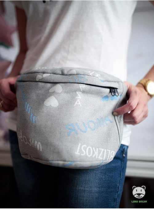 Waist Bag Words of Love - Blue