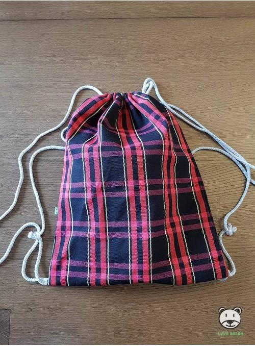Plecak/Torba - WORDS OF LOVE (różowy) 100% Bawełna, rozmiar 31cm x 43cm