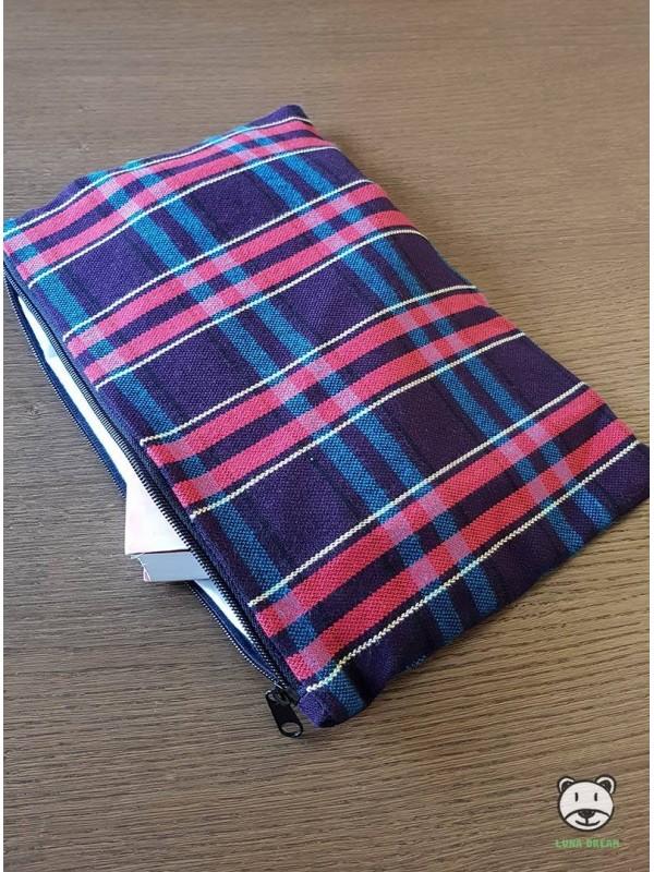 Blueberry Tartan Tasche 100 Baumwolle Luna Dream