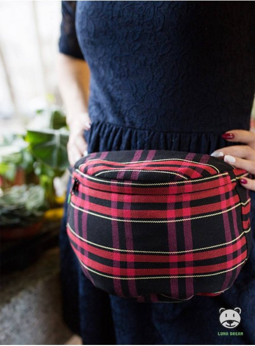 Bederní taška Cherry tartan