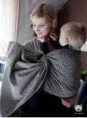 Chusta do noszenia dzieci LITTLE HEARTS RING (ecru) - 100% Bawełna, chusta kółkowa, rozmiar: 2,1 m, splot żakardowy
