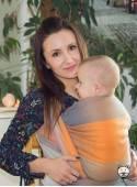 Chusta do noszenia dzieci SPRING PASTEL (krata) - 100% Bawełna, splot skośno-krzyżowy