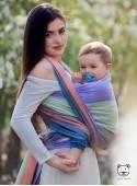 Chusta do noszenia dzieci SPRING PASTEL (paski) - 100% Bawełna, splot skośno-krzyżowy