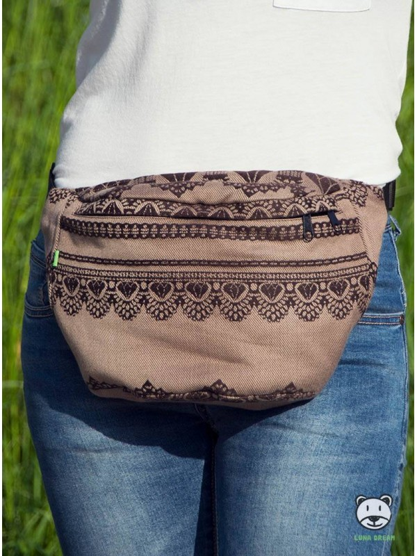 08a48a65a1 Bederní taška Diamond Lace Cappuccino - Luna Dream