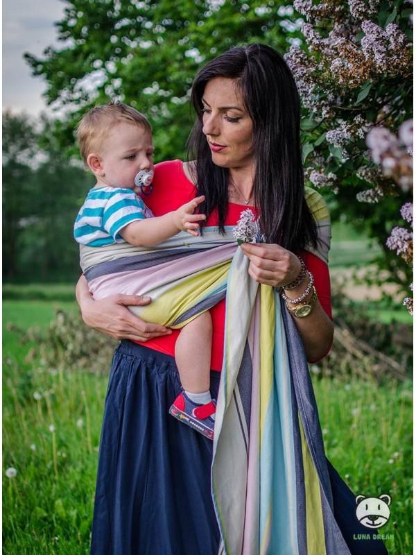 Chusta do noszenia dzieci RELAX RING - 100% Bawełna, chusta kółkowa, rozmiar: 2,1 m, splot diamentowy