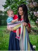 Chusta do noszenia dzieci RELAX RING - 60% Bawełna 40% Bambus, chusta kółkowa, rozmiar: 2,1 m, splot diamentowy