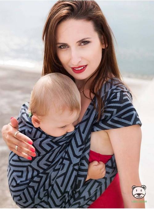 Chusta do noszenia dzieci MAZE BASIC (szara) - 100% Bawełna, splot żakardowy