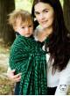 Chusta do noszenia dzieci MAZE BASIC RING (zielona) - 100% Bawełna, chusta kółkowa, rozmiar: 2,1 m, splot żakardowy
