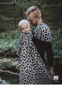 Chusta do noszenia dzieci MITSU RING (czarna) - 100% Bawełna, chusta kółkowa, rozmiar: 2,1 m, splot żakardowy