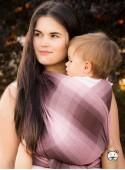 Chusta do noszenia dzieci AUTUMN OMBRE (krata) - 100% Bawełna, splot skośno-krzyżowy