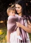 Chusta do noszenia dzieci AUTUMN OMBRE RING (krata) - 100% Bawełna, chusta kółkowa, rozmiar: 2,1 m, splot skośno-krzyżowy