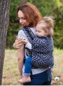 Nosidełko regulowane Multi Size: Maze szare - 100% bawełna, splot żakardkowy