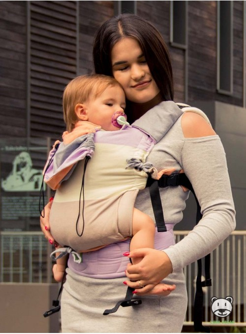 Adjustable Baby Carrier Multi Size:: Spring pastel, 100% cotton, weave cross twill