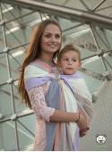 Chusta do noszenia dzieci SPRING PASTEL RING (paski) - 100% Bawełna, chusta kółkowa, rozmiar: 2,1 m, splot skośno-krzyżowy