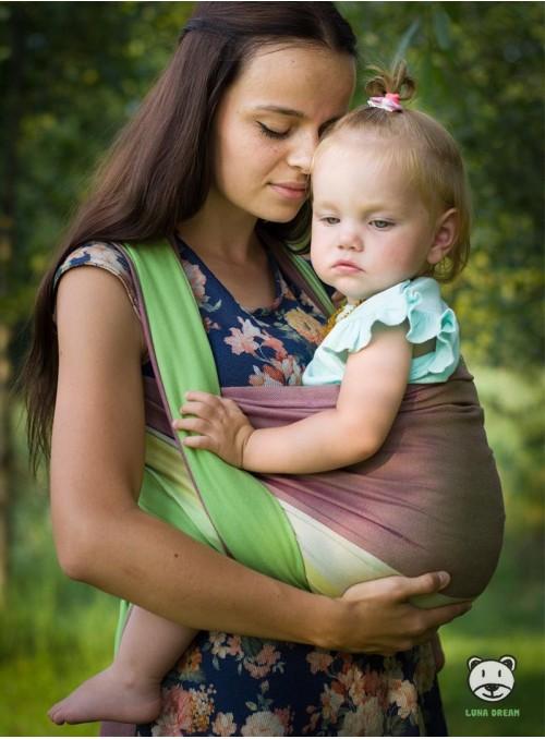 Chusta do noszenia dzieci SUMMER LIME BAMBOO - 60% Bawełna 40% Bambus, splot skośno-krzyżowy