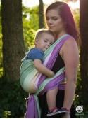 Chusta do noszenia dzieci Summer Lime - 100% Bawełna, splot skośno-krzyżowy