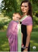 Chusta do noszenia dzieci SUMMER LIME RING - 100% Bawełna, chusta kółkowa, rozmiar: 2,1 m, splot skośno-krzyżowy
