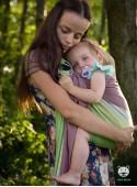 Chusta do noszenia dzieci SUMMER LIME RING - 60% Bawełna 40% Bambus, splot skośno-krzyżowy