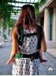 Nosidełko regulowane Multi Size: Maze zielone - 100% bawełna, splot żakardkowy