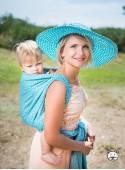 Chusta do noszenia dzieci LITTLE HEARTS (niebieska) - 100% Bawełna, splot żakardowy