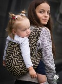 Chusta do noszenia dzieci MAZE BASIC (złota) - 100% Bawełna, splot żakardowy
