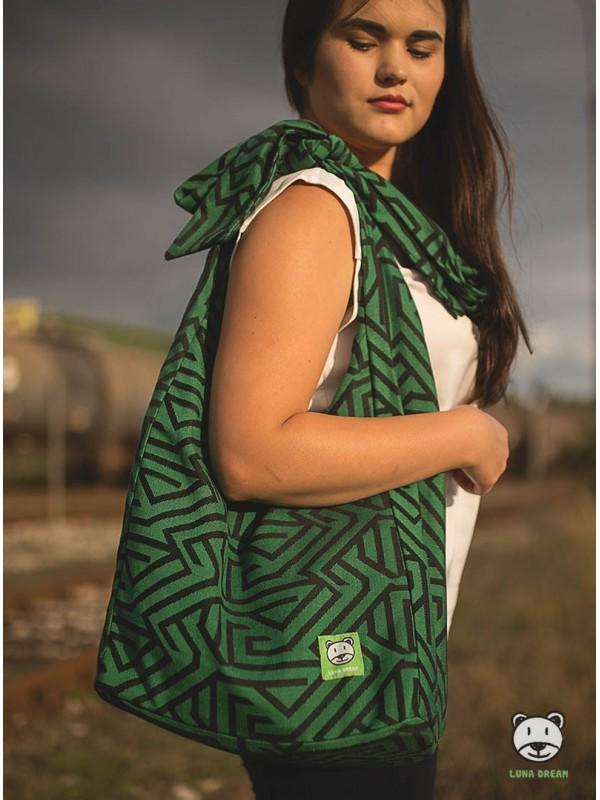 Tasche Panama Maze green