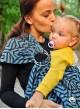 Chusta do noszenia dzieci MAZE BASIC RING (niebieska) - 100% Bawełna, chusta kółkowa, rozmiar: 2,1 m, splot żakardowy