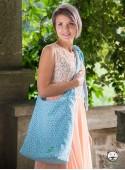 Torba Panama Little Hearts niebieska