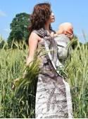 Chusta do noszenia dzieci FIELD EARS RING - 100% Bawełna, chusta kółkowa, rozmiar: 2,1 m, splot żakardowy