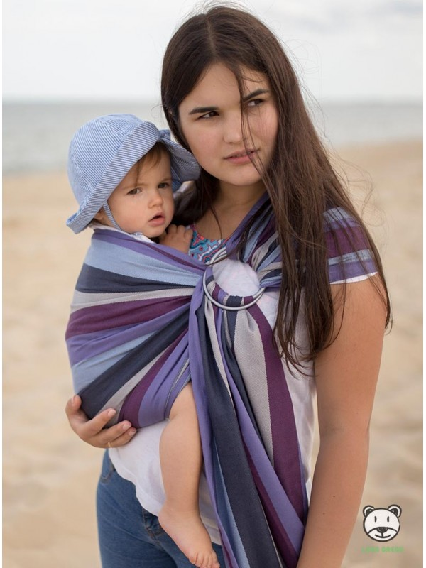 Chusta do noszenia dzieci SPRING PASTEL (paski) - 60% Bawełna 40% Bmbus, chusta kółkowa, rozmiar: 2,1 m, splot skośno-krzyżowy