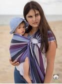 Chusta do noszenia dzieci LAVENDER EVENING RING - 60% Bawełna 40% Bambus, chusta kółkowa, rozmiar: 2,1 m, splot skośno-krzyżowy
