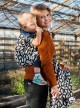 Chusta do noszenia dzieci MITSU (czarna)- 100% Bawełna, splot żakardowy
