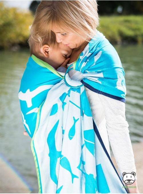 Chusta do noszenia dzieci POMERANIA - 100% Bawełna, chusta kółkowa, rozmiar: 2,1 m, splot żakardowy