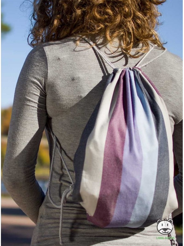 SACKPACK FOR WRAP - Lavender Evening 100% Cotton, size 31cm x 43cm