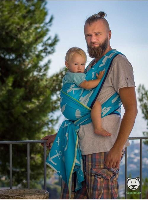 Chusta do noszenia dzieci POMERANIA - 100% Bawełna, splot żakardowy