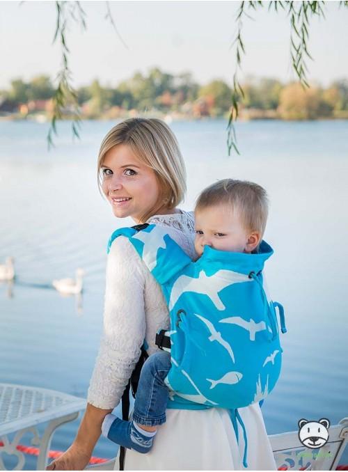Nosidełko regulowane Multi Size: Pomerania - 100% bawełna, splot żakardkowy