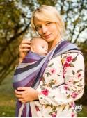 Chusta do noszenia dzieci LAVENDER EVENING (paski) - 100% Bawełna, splot skośno-krzyżowy