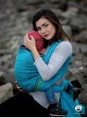 Chusta do noszenia dzieci TALISMAN (blue) - 100% Bawełna, splot żakardowy