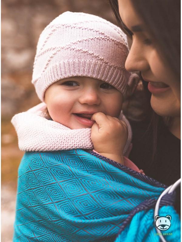 Chusta do noszenia dzieci TALISMAN (blue) - 100% Bawełna, chusta kółkowa, rozmiar: 2,1 m, splot żakardowy
