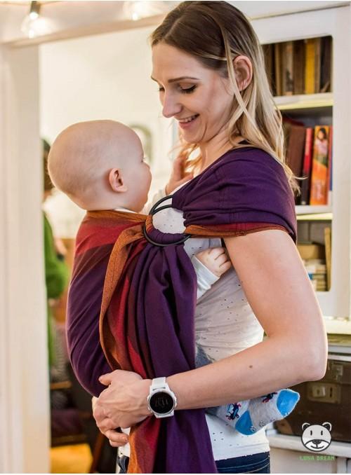 PURPLE LOVE RING - 100% Bawełna, chusta kółkowa, rozmiar: 2,1 m, splot skośno-krzyżowy