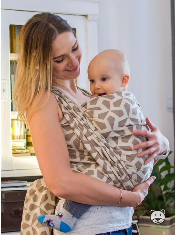 Chusta do noszenia dzieci MITSU (ecru)- 100% Bawełna, splot żakardowy