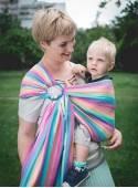 Chusta do noszenia dzieci MAGIC SUMMER RING - 100% Bawełna, chusta kółkowa, rozmiar: 2,1 m, splot skośno-krzyżowy
