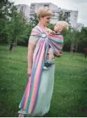 Chusta do noszenia dzieci MAGIC SUMMER RING - 60% Bawełna 40% Bambus, chusta kółkowa, splot skośno-krzyżowy