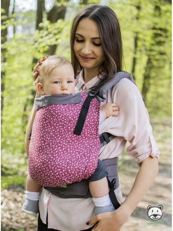 Adjustable Baby Carrier Grow Up: Meadow (burgundy)