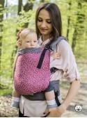 Регулируемый эро-рюкзак Grow Wrap: Meadow (burgundy)