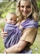 Chusta do noszenia dzieci HERRINGBONE PURPLE RING - 100% Bawełna, chusta kółkowa, rozmiar: 2,1 m, splot żakardowy