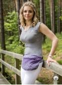 Bederní taška Herringbone purple