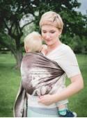 Chusta do noszenia dzieci LITTLE PRINCE RING - 100% Bawełna, chusta kółkowa, rozmiar: 2,1 m, splot żakardowy