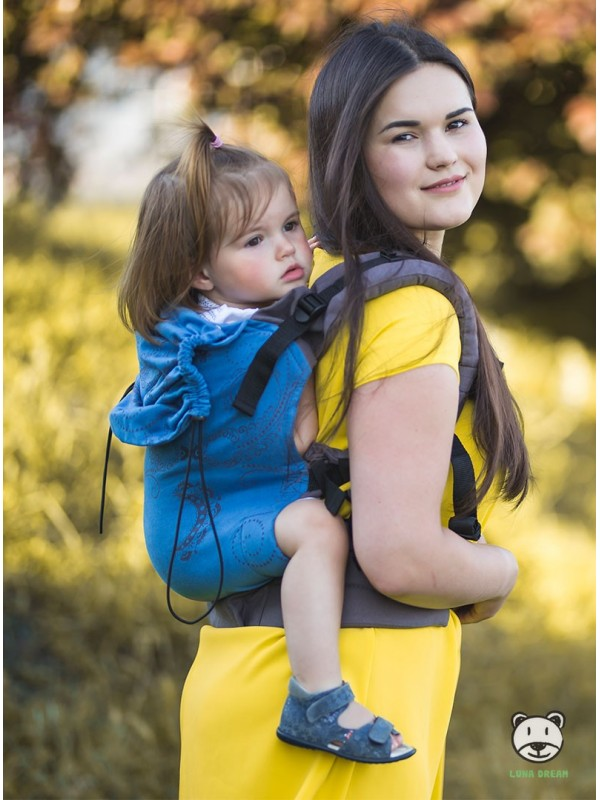 Adjustable Baby Carrier Grow Up Wrap: Luna Jeans
