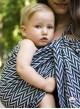 Chusta do noszenia dzieci HERRINGBONE MONO RING - 100% Bawełna, chusta kółkowa, rozmiar: 2,1 m, splot żakardowy